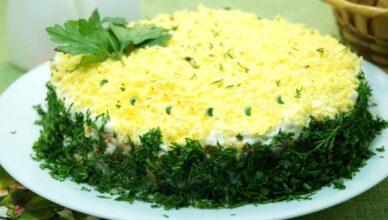 Торт-салат с тунцом