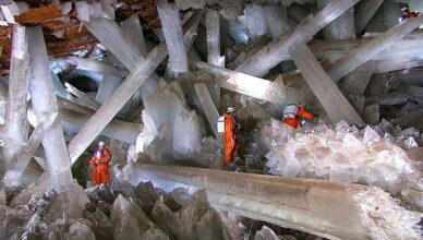 Естественное чудо — прекрасная и опасная пещера с самыми большими кристаллами в мире
