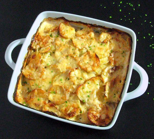 Запеканка с картофелем и сливками