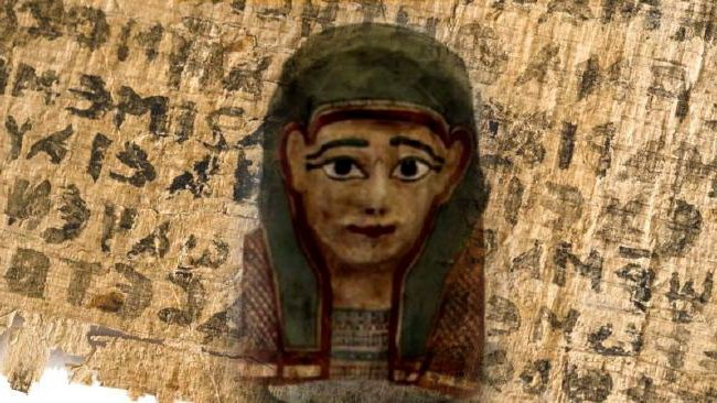 загадочные мумии Текст Евангелия в маске мумии