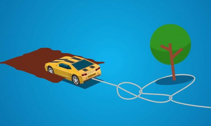 вытянуть застрявшую машину из грязи