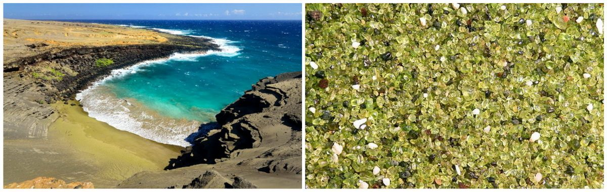С неба на Гавайях падают зеленые самоцветы