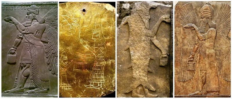 сумочки в руках древних богов