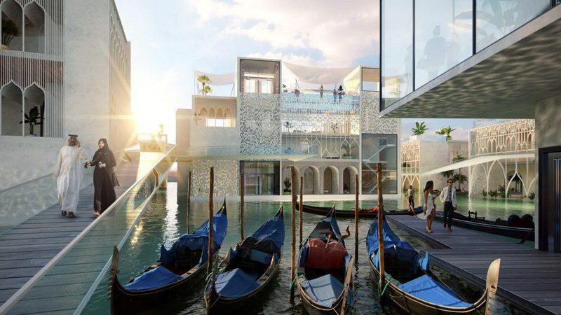 Курорт Плавающая Венеция в Дубае