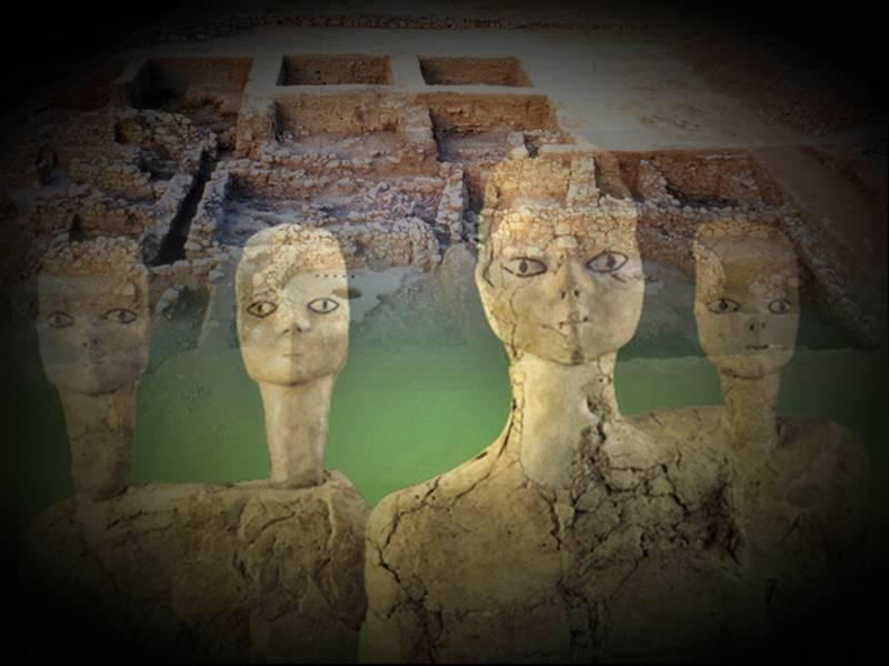 Загадочные древние статуи из Иордании
