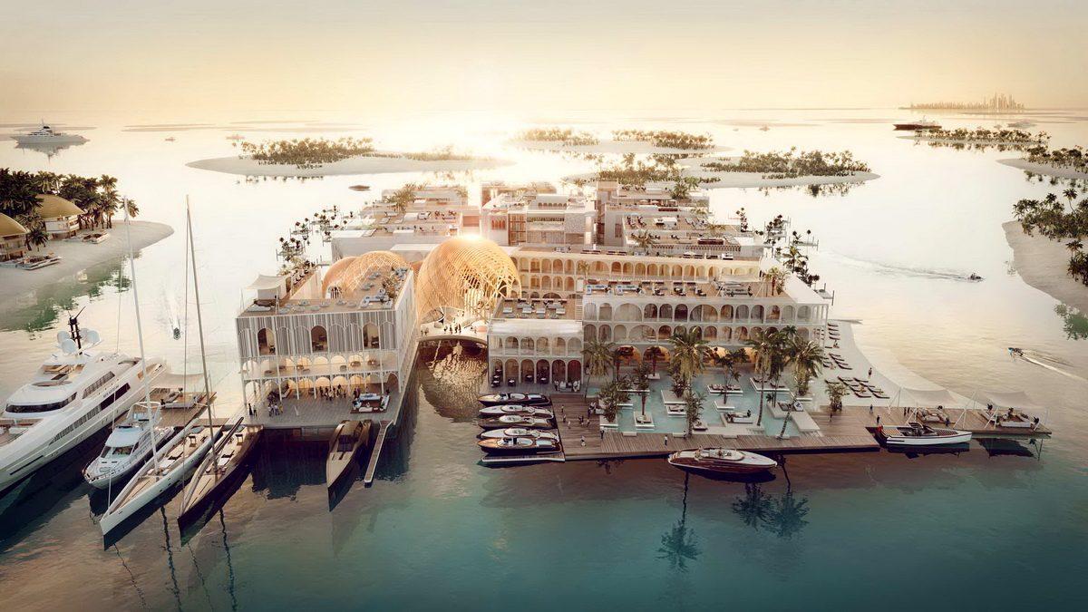 Курорт «Плавающая Венеция» в Дубае