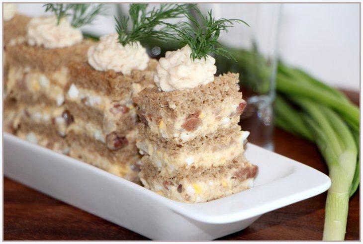 Оригинальный торт из селёдки