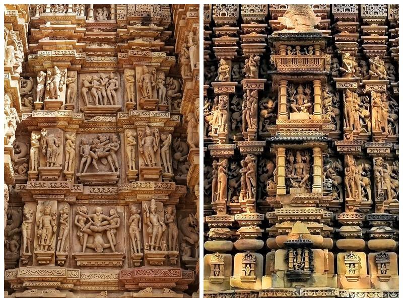 храмы Кхаджурахо камасутра в камне