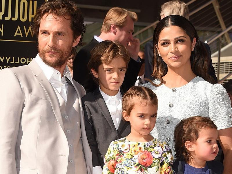Семья, жена, дети и дом Мэтью МакКонахи