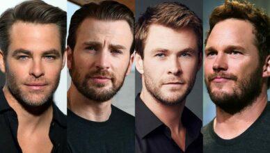 Четыре Криса Голливуда: Эванс, Прэтт, Хемсворт и Пайн