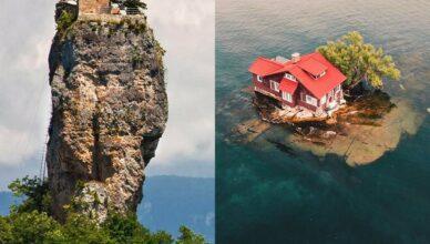 5 удивительных домов, построенных в невозможных местах: кто в них живет
