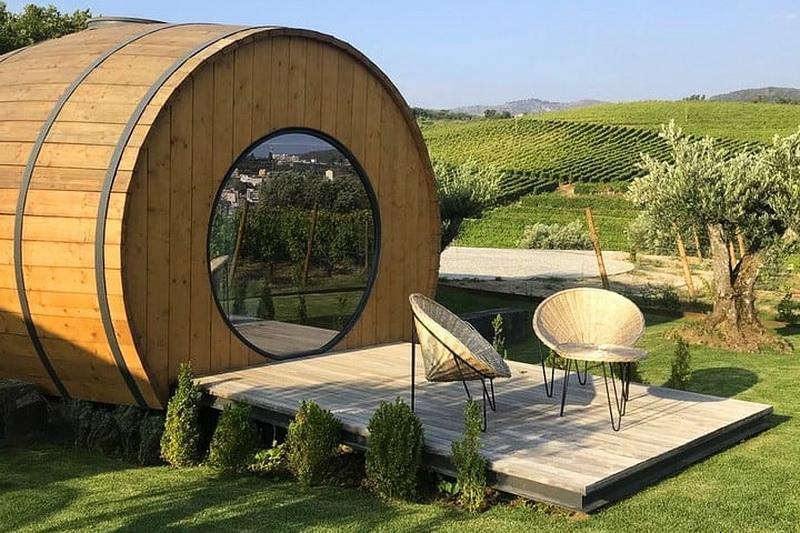 Дегустация португальских вин и ночь в дубовой бочке в поместье Quinta da Pacheca