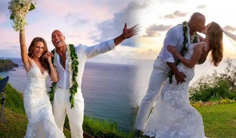 Дуэйн «Скала» Джонсон женился на давней подруге Лорен Хэшиан на Гавайях