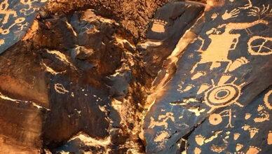 «Газетная скала» — большая коллекция петроглифов