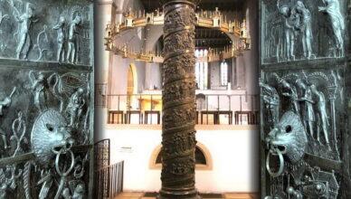 Колонна Бернварда в Хильдесхаймском соборе Германии