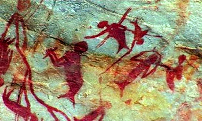 Пришельцы из морских глубин в древней наскальной живописи