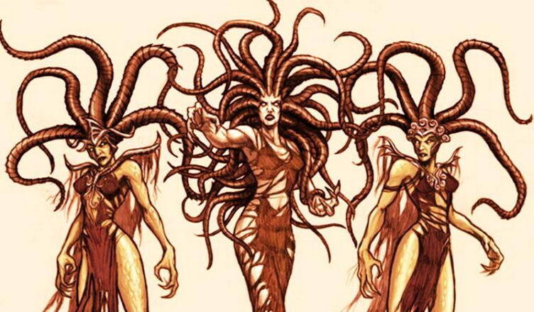 Мифические фурии — сердитый женский образ из подземного мира