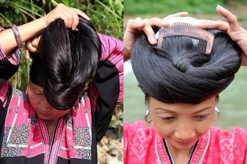 Китайская деревня, где живут женщины с необычайно длинными волосами