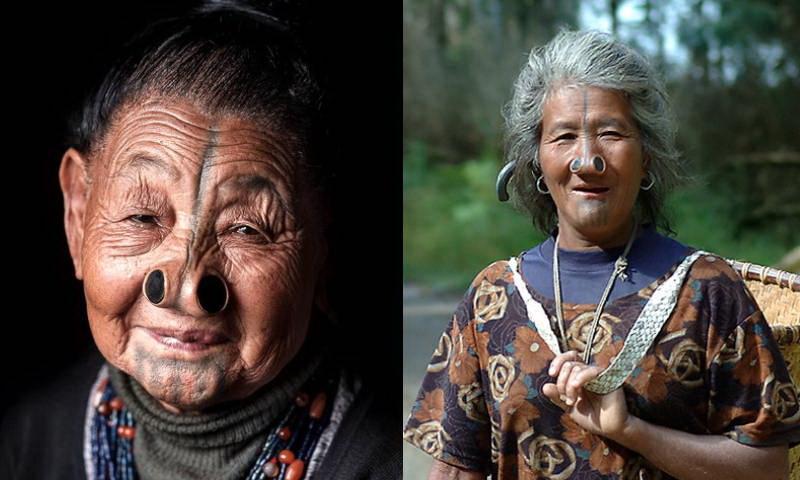 Народ апатани: зачем женщины носят пробки в носу