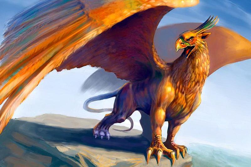 Крылатое создание из мифов грифон