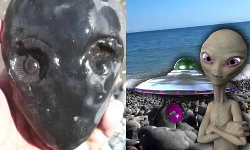 камень похож на пришельца