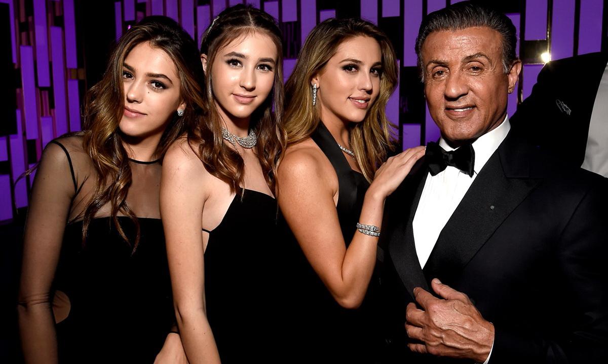 Три дочери Сильвестра Сталлоне выросли настоящими красавицами