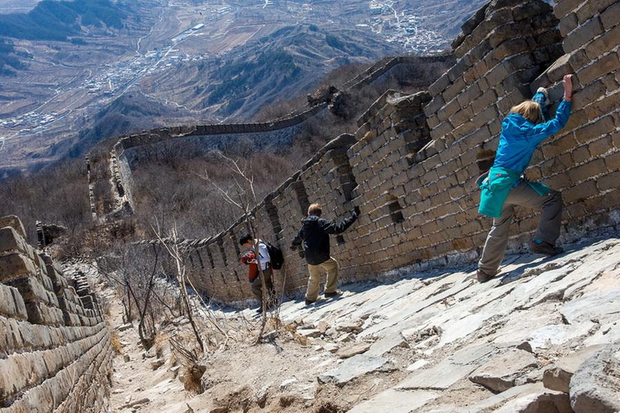 Подъем по Великой китайской стене