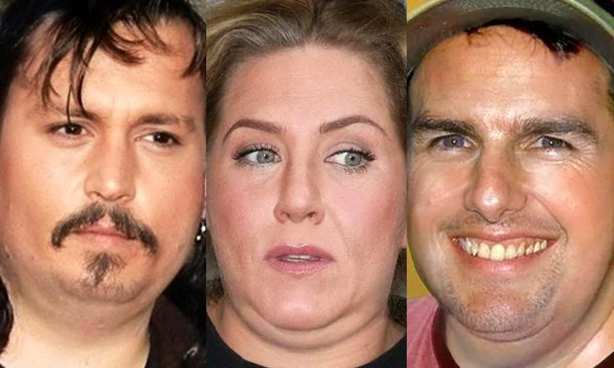 Художник показал как бы выглядели звезды Голливуда в обычной жизни