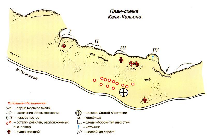 План Качи-Кальон Крым