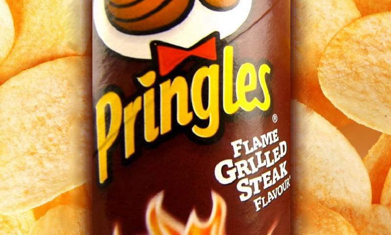 Принглс со вкусом стейка на гриле