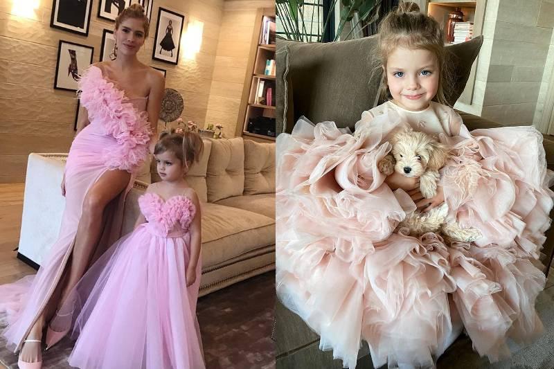 Дочь модели Елены Перминовой