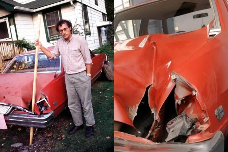 Машина после падения метеорита 1992