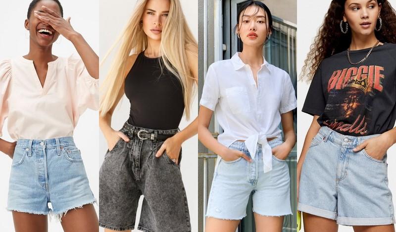Фото джинсовые шорты лето 2020