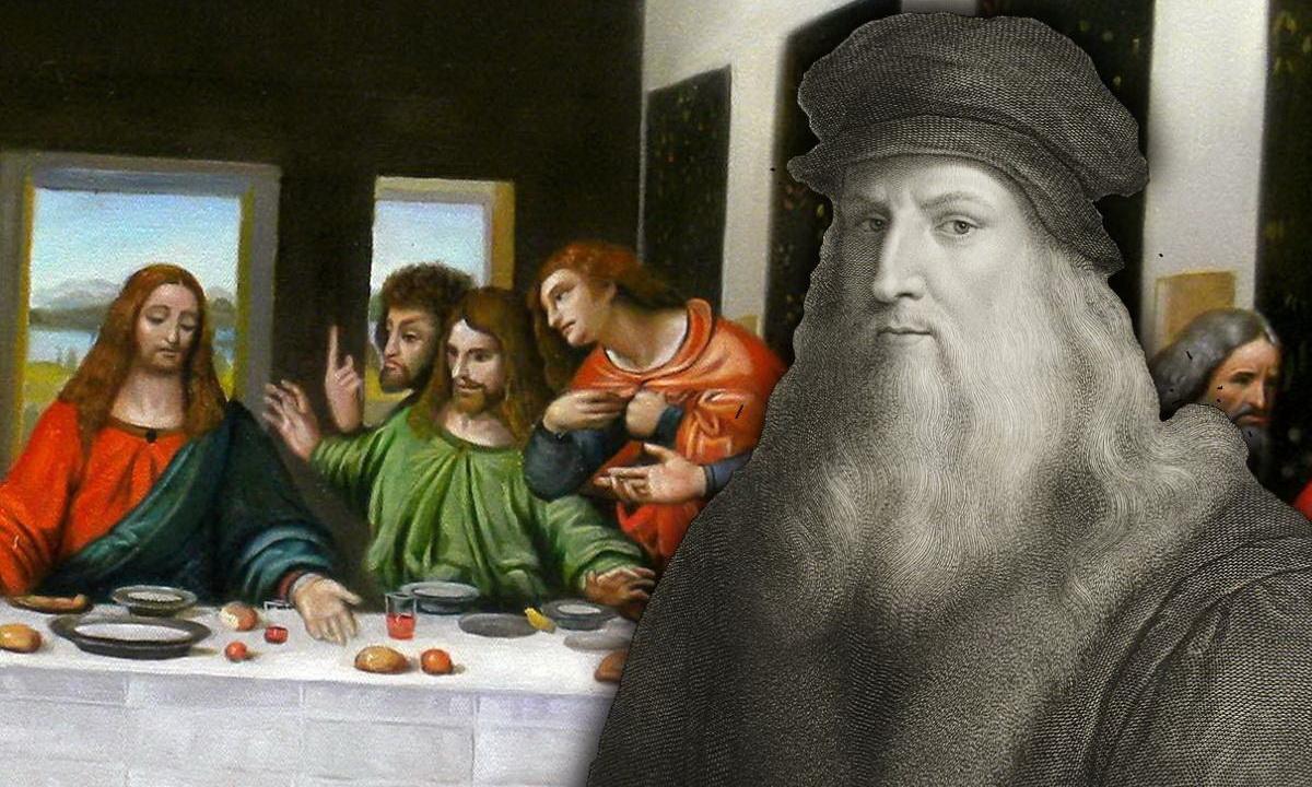 Сканирование с высоким разрешением картины Леонардо Да Винчи