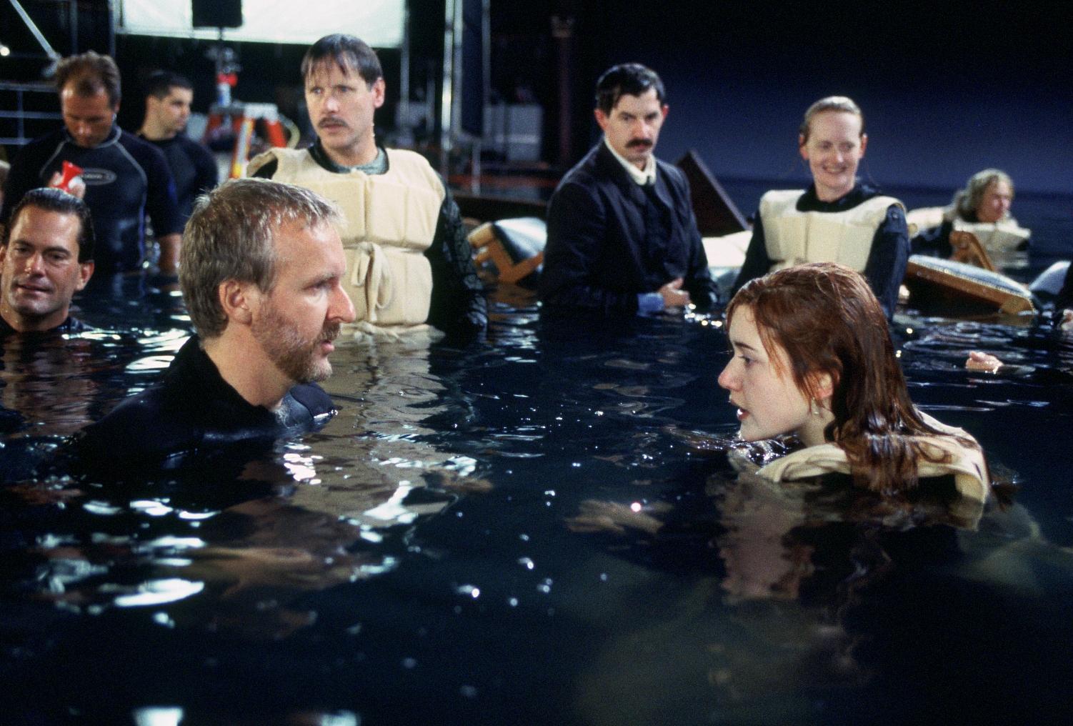 Джеймс Кэмерон съемки Титаника