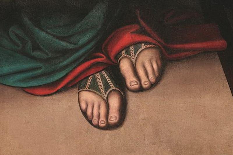 Библейская обувь Тайная Вечеря