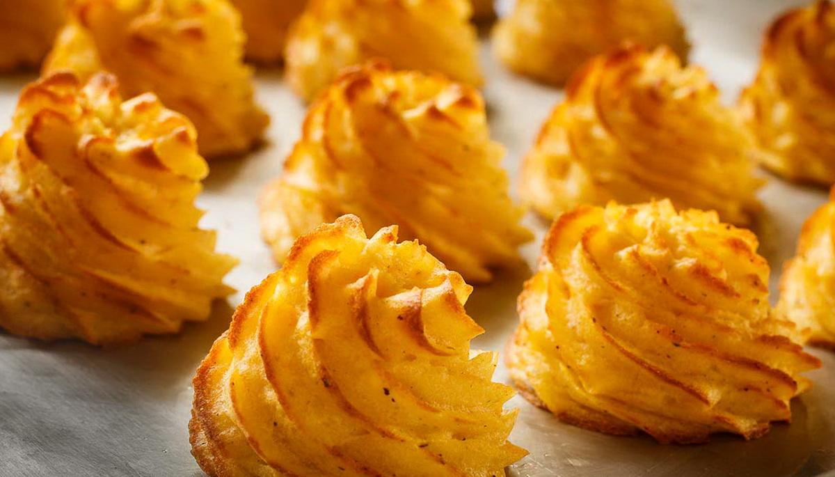 Рецепт красивого и вкусного картофельного гарнира Дюшес