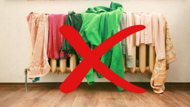 Нельзя сушить белье в квартире