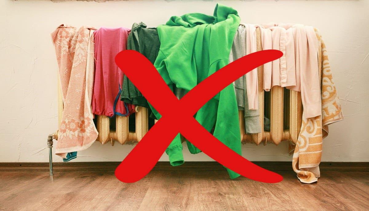 Почему вредно сушить белье в квартире