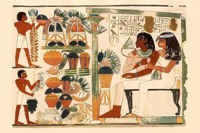 Фреска подношения фараонам