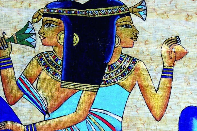 Женщины Древнего Египта фреска