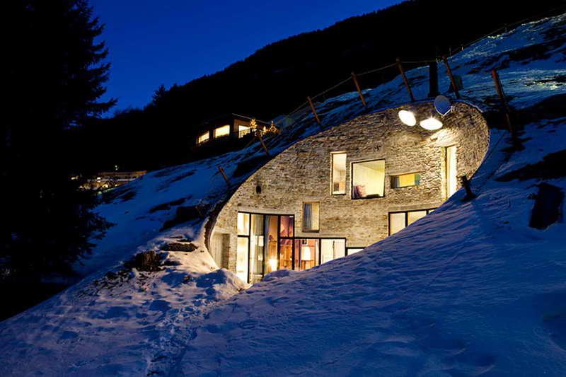 Вилла в скале Вальс Швейцария