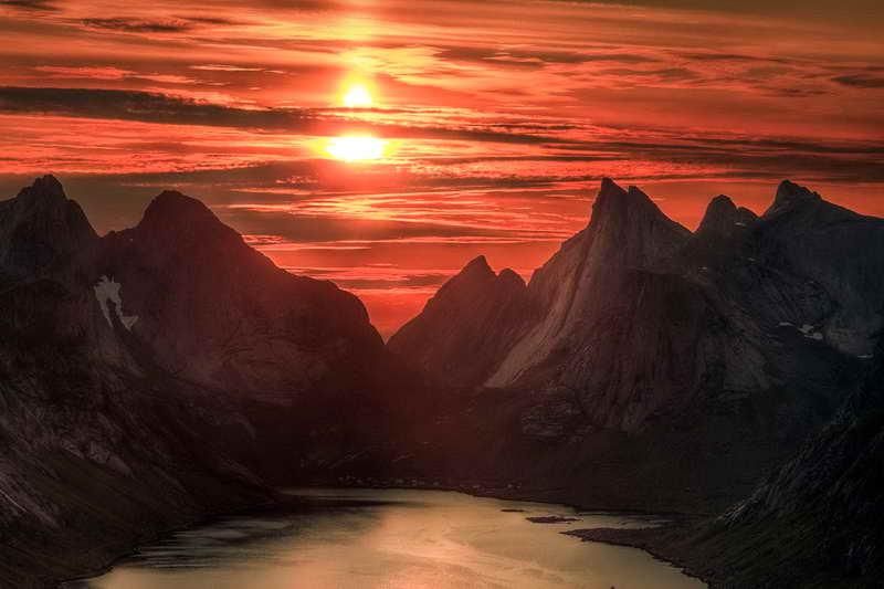 Полуночное солнце Норвегия