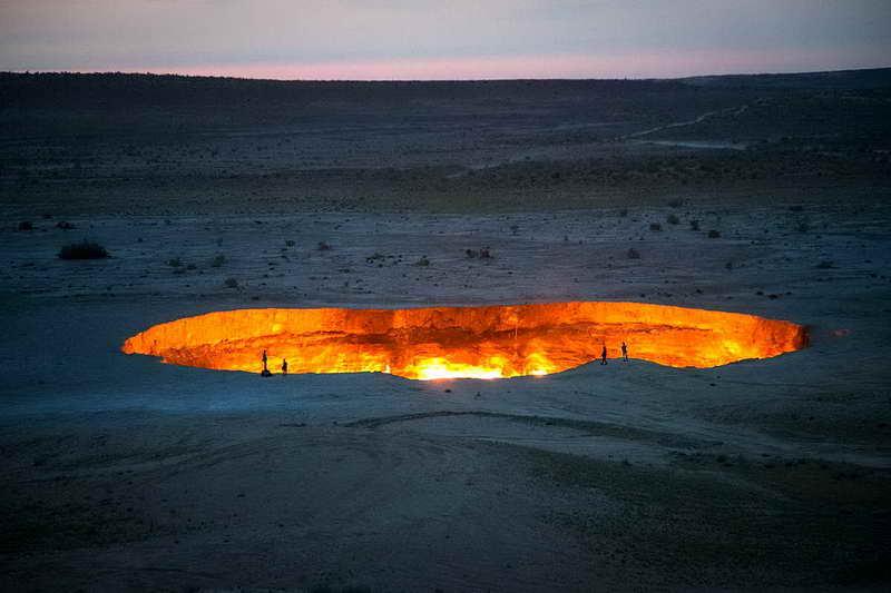 Кратер Дарваза Туркменистан