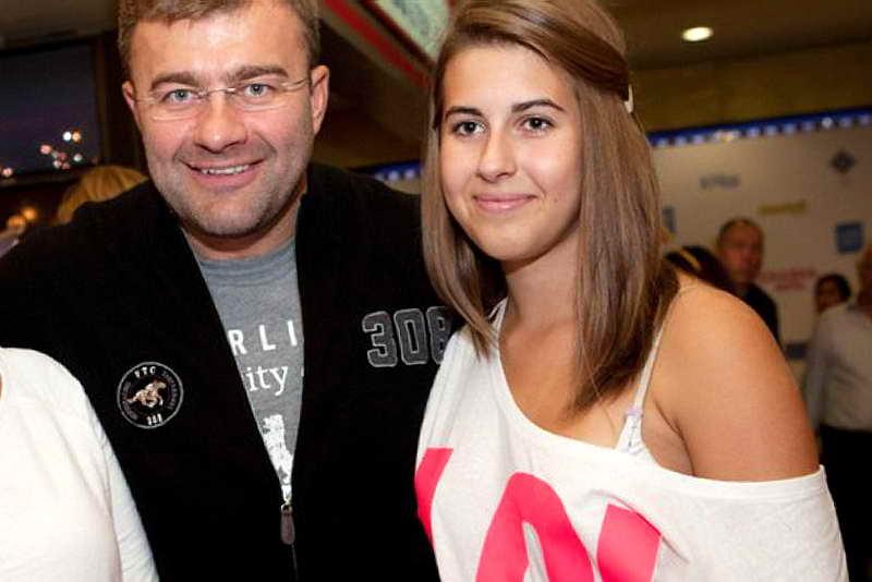 Михаил Пореченков и дочь Варвара