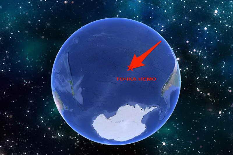 Точка Немо в Тихом океане